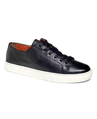 Anthony Veer Coolidge Tennis Men's Lace-up Leather Luxury Sneaker Comfort (8 D US, Black)