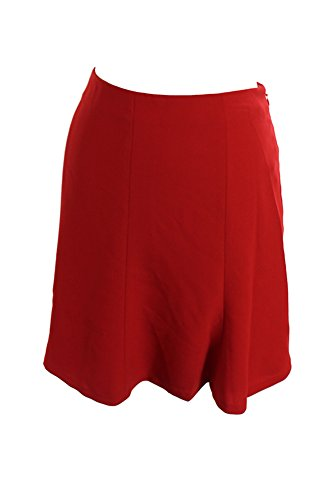 RALPH LAUREN Lauren Red Fit Flare Crepe Mini Skirt