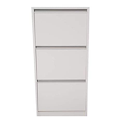 Archivadores de 3 cajones blanco - archivador de oficina para capertas colgantes montado listo para ser utilizado: Amazon.es: Oficina y papelería