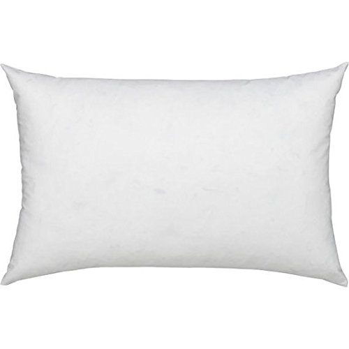 Bamboo Decorative Pillow (ComfyDown 95% Feather 5% Down, 12 X 16 Rectangle Decorative Pillow Insert, Sham Stuffer - MADE IN USA)