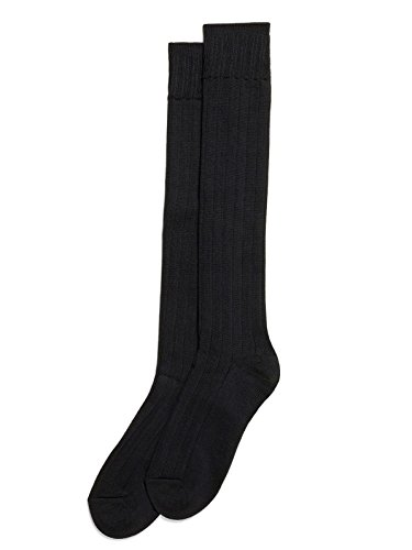 Hue Women's Ribbed Knee Socks, Black, Medium