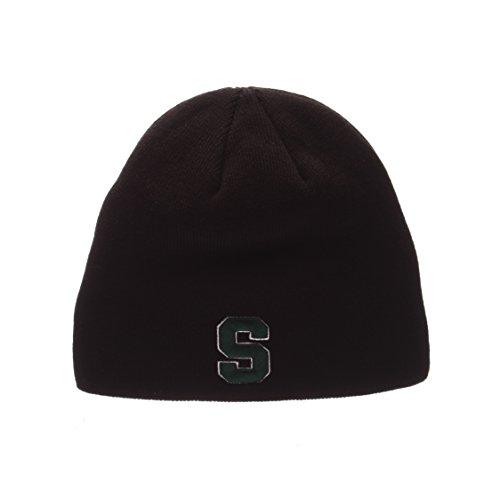 ZHATS Michigan State Spartans Black Edge Skull Cap - NCAA MSU Cuffless Winter Knit Beanie Toque Hat