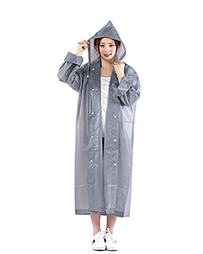 Amarillo Capucha Con Emergencia Clásico Fashion Mujeres Rainwear Y Grau Laisla De Impermeable Chaquetas Lluvia Poncho Eva FRxqBOwA