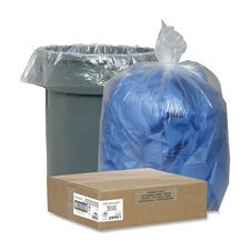 """Nature Saver Trash Can Liners,Rcycld,33 Gal,1.25Mil, 33""""X39"""""""