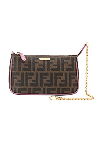 Fendi-Womans-Brown-Zucca-Handbag-Clutch