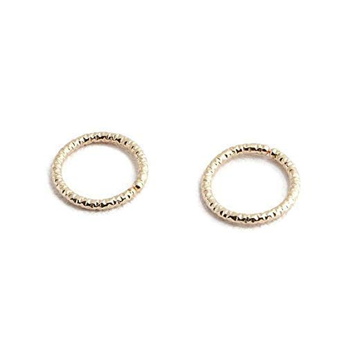 Tiny Hoops 14K Gold Filled Diamond Cut 9mm Cartilage Handmade Hoops GF-DC-O-D9MM-20GA-Pair