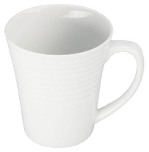Bia Cordon Bleu Microwave Safe Mug - Bia Cordon Bleu White Porcelain Ribbed Mug, Set of 4