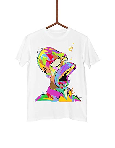 (Men T-shirt | Painted Homer | The Simpsons | Streetwear | Short Tees Sleeve | Graphic Fashion )
