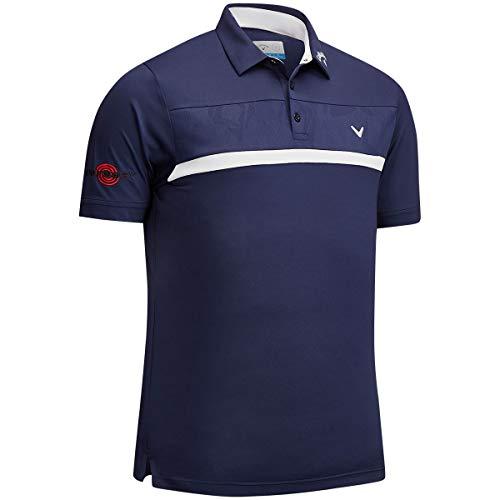 - Callaway Golf 2019 Mens Premium Tour Players Opti-Dri Golf Polo Shirt Peacoat Medium