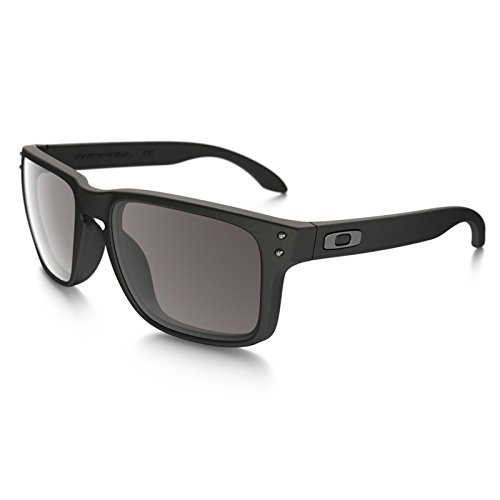 Oakley Holbrook Matte Black w/Warm Grey OO9102-01 + Free SD Glasses+Cleaning - Oakley Iridium Holbrook Blue