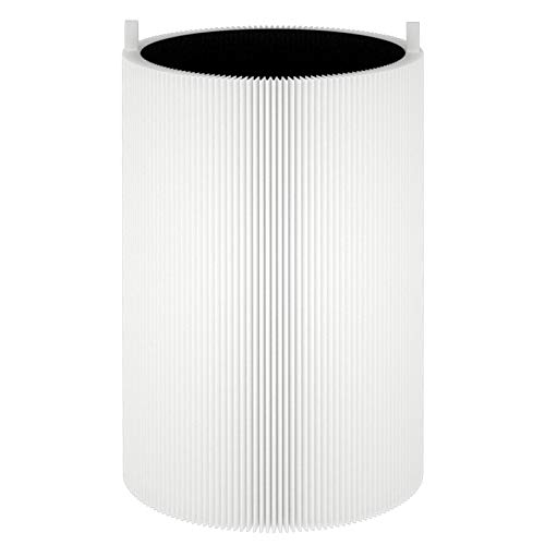 Lhari Blue 411 Replacement Filter, Compatible with Blueair Blue Pure 411, 411+ and MINI Air Purifier, Particle + Activated Carbon Filter Removes Allergens, Pollen, Smoke, Odors