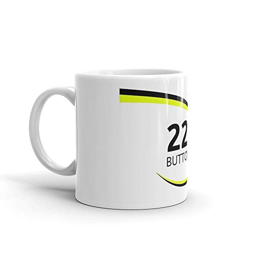 (F1 Legends - Jenson Button [Brawn]. 11 Oz Mugs Made Of Durable Ceramic With An Easy Grip Handle.This Coffee Mug Has A Hefty But Classic)