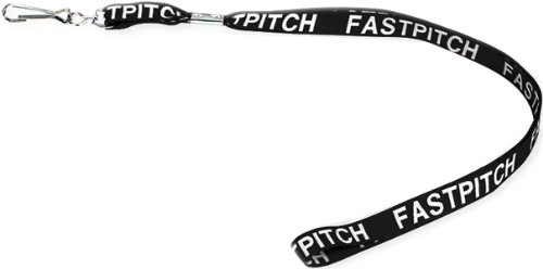 Black Wide Woven Lanyard with Fastpitch Logo