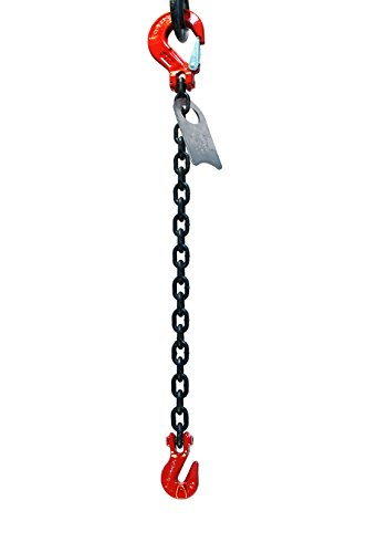 Chain Sling - 3/8'' x 5' Single Leg with Grab and Sling Hook - Grade 80