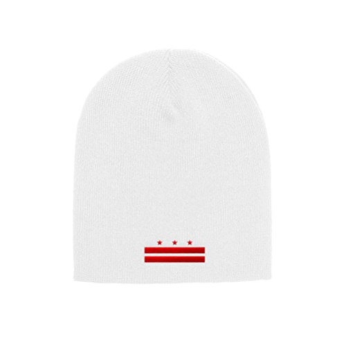 - Chicago Flag Hats Washington D.C. Flag Official Adult Knit Beanie 1500 (White)