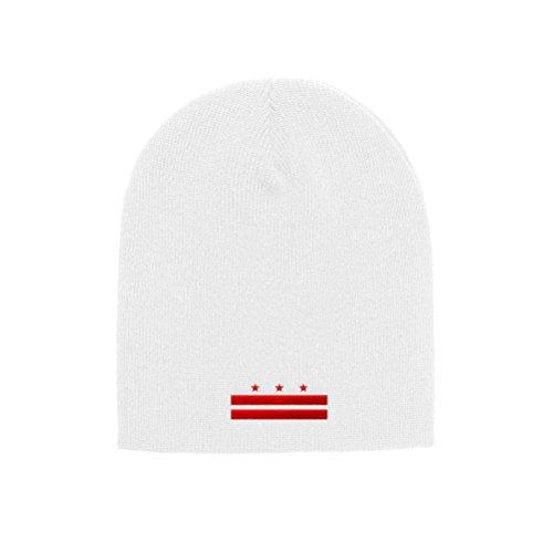 - Chicago Flag Hats Washington D.C. Flag Official Adult Knit Beanie 1500 (White)