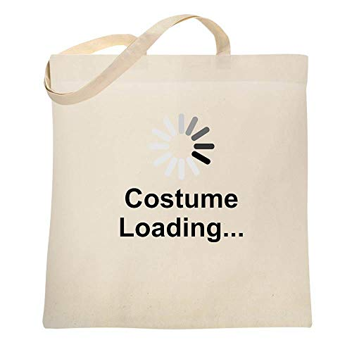 Costume Loading Funny Halloween Natural 15x15 inches Canvas Tote Bag ()