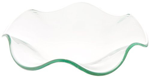 StealStreet SS-GC-MG-DISH Wavy Replacement Glass Dish For Electric Oil Aromatherapy Burner