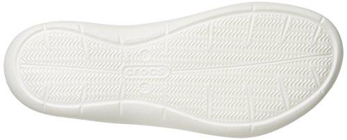 Crocs Frauen Swiftwater Graphic W Flache Sandale Rosa / Blumen