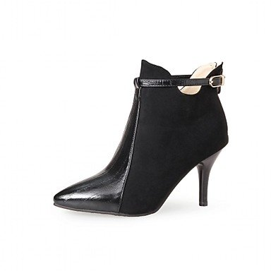 RTRY Women'S Shoes Leatherette Spring Winter Fashion Boots Boots Stiletto Heel Pointed Toe Booties/Ankle Boots Zipper For Casual Office &Amp; US8.5 / EU39 / UK6.5 / CN40 Zf1Cver