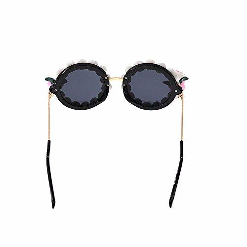 de polarizadas sol Gafas Gafas la Ultra para Gafas ligero de estilo mujeres lindas playa de la de de sol de de perla mujeres Gafas de persona demostración de la barrocas las las redondas de sol la sol q8S8gF