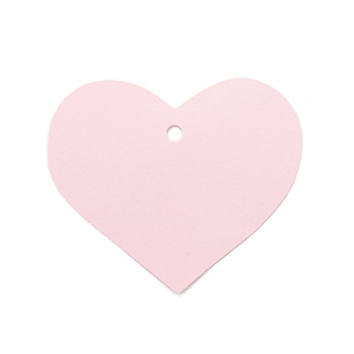 (LWR Crafts 100 Hang Tags Heart with Jute Twines 100ft (2 3/8