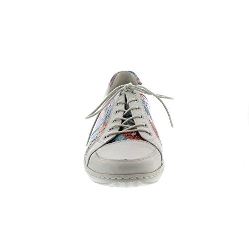 mujer de Multi Piel Zapatos Waldläufer cordones para Henni Offwhite de q0w6wAx