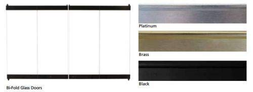 Superior BD Standard Bi-Fold Black Glass Door for Fireplace