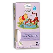 Bébé Disney WINNIE L'OURSON Daily Renouvellement Naturals® bébé débarbouillettes lavande et de camomille, One Box 20 ct