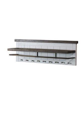 Loft perchero con estante superior, barras y 9 ganchos de ...