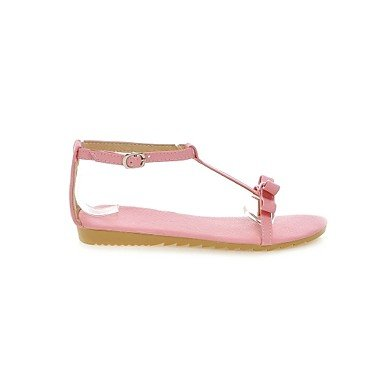 LvYuan Mujer-Tacón Plano-Otro-Sandalias-Exterior Vestido Informal-PU-Rosa Blanco Plata Oro Pink