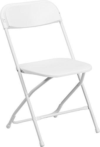 Flash Furniture HERCULES Series 800 lb. Capacity White Plastic Folding Chair