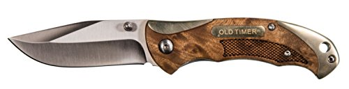 Old Timer 900OT 6.85in High Carbon S.S. Assisted Opening Knife with 2.9in Clip Point Blade and Ironwood Handle for Outdoor, Hunting, Camping and EDC