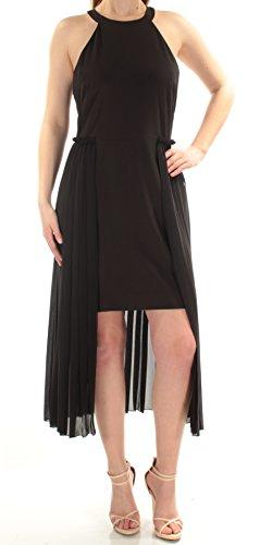 RACHEL Rachel Roy Women's High Neck Crepe Dress with Chiffon Overlay, Black, 14 from RACHEL Rachel Roy