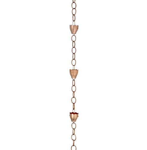 Good Directions 6 Cup Crocus Pure Copper 8.5-Foot Rain Chain
