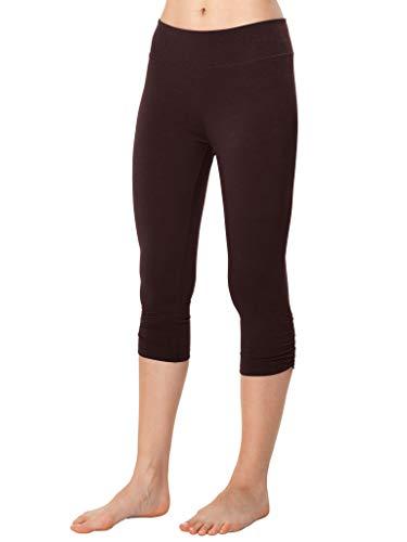 (Blue Canoe Organic Cotton and Spandex Cropped Yoga Pant Black)