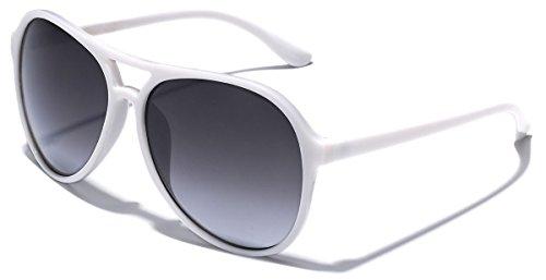Retro Vintage Unisex Fashion Aviator - Sunglasses White Aviator