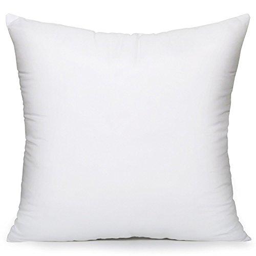 Acanva Hypoallergenic Pillow Insert Sham Cushion Form, Square, 20