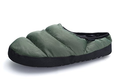 Yiruiya Mens Fashion Komfort Varmt Hus Tøfler Høst Vinter Pustende Innesko Grønne