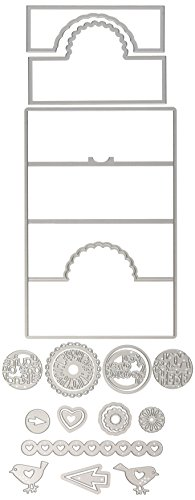 Cards Circle - Sizzix 660719 Card Scallop Circle Stand-Ups Framelits Die Set by Stephanie Barnard (19/Pack)