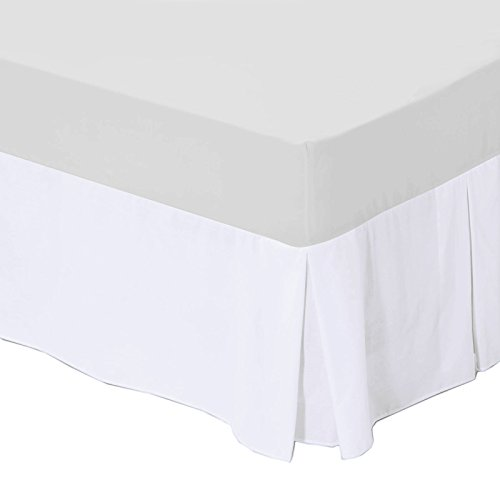 Super King Size Box Pleated Base Platform Valance with 16