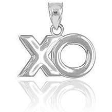 925 Sterling Silver XO Hugs and Kisses Charm Pendant