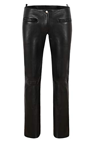 Cuero Para Italiano 4566 Pantalones Sexy Motociclista Cordero Suave Mujer Carrie Negro Moda Piel Hoxton De Ch aAwfqI
