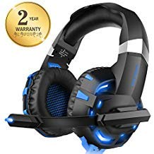Solid Head Amplifier (Xbox one Headset for PS4, WILLNORN K2 Gaming Headset with Mic Noise Cancelling Over Ear Headphones for PS4, PC Controller, Laptop, LED Light, Stereo Sound with Bass)