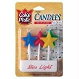 Cake Mate Party Candles, Star Light Candles, 2-pack