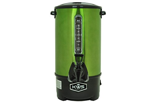 (KWS WB-10 9.7L/41Cups Commercial Heat Insulated Water Boiler and Warmer Stainless Steel (Green))