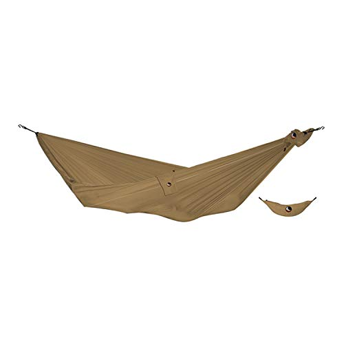 TICKETTOTHEMOON Ticket to The Moon Compact Hammock + Express Bag + S-Hook | 320x155 cm (Brown) (Hammock Ticket To The Moon)