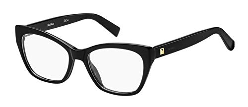 Max Mara Plastic Rectangular Eyeglasses 53 0807 Black