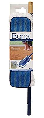 "Bona WM710013432 Mop, Microplus W/Tele Pole Blue 4"" X 15"" Clng Pad"