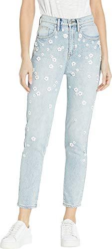 Juicy Couture Zip (Juicy Couture Women's Denim Floral Embellished Girlfriend Jeans Rosie Wash 28 26)